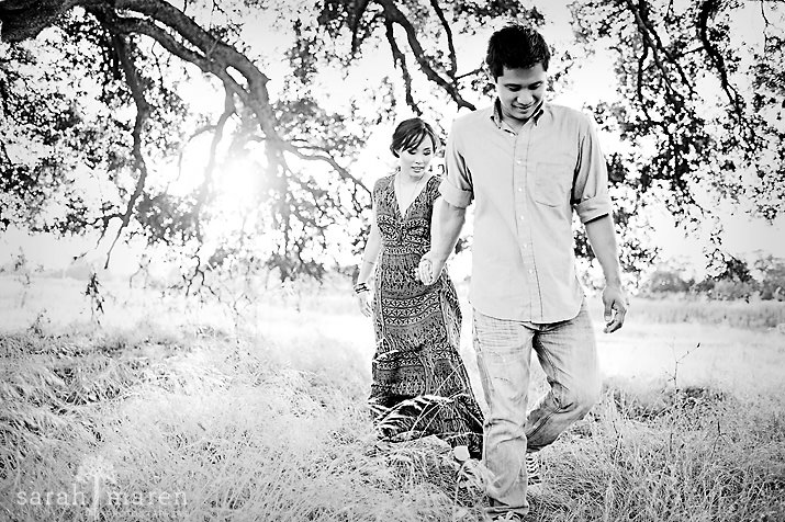 Roseville Sunset Engagement Session by Sarah Maren Photography