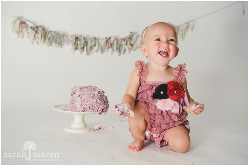 Cake Smash Portrait by Sarah Maren Photography