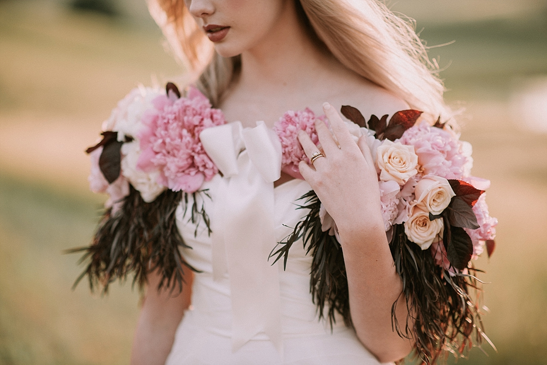 Taber Ranch Wedding Photography by Sarah Maren Photography : Perfect Peony Inspiration Shoot in the Capay Valley featuring rare peonies and epic views