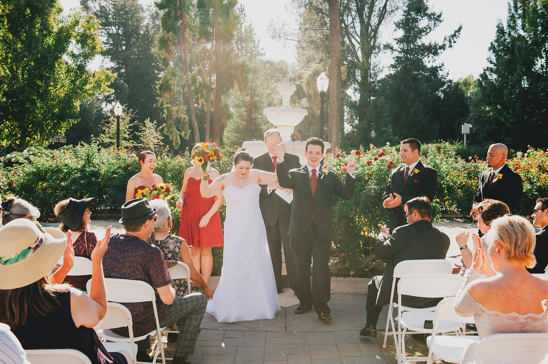 Sacramento Outdoor Wedding Venue - Capitol Park Rose Garden